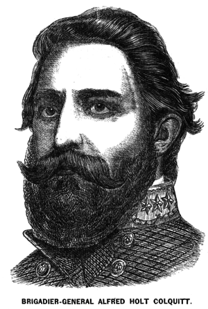 Alfred H. Colquitt - Portrait of Colquitt from a Richmond newspaper in 1863.