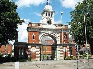 Cauldwell, Bedford - Image: Britannia Iron Works Gate Bedford