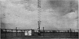 Counterpoise (ground system) - Ground screen, similar to a counterpoise, at base of mast antenna of AM radio station KTBS