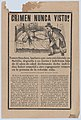 Broadsheet relating to a young girl who was beheaded while her father Tomás Sánchez left her at home alone MET DP874524.jpg