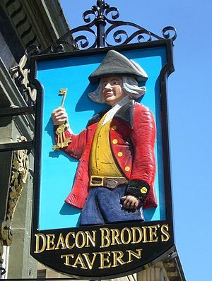 William Brodie - Sign at Deacon Brodie's Tavern on Edinburgh's Royal Mile