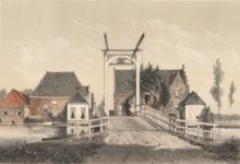 Gezicht op de brug bij de Haagsche Schouw. Uit: Montagne. 19e eeuw