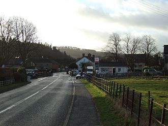 Bucknell, Shropshire - Local services in the village; the Sitwell Arms is in the background