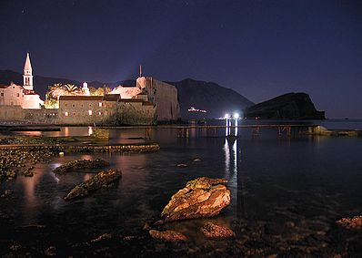 Old Town by night Budva nocu.jpg