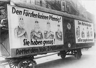 Expropriation of the Princes in the Weimar Republic - Petition for a referendum in 1926: No money for the princes.