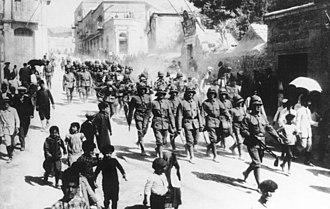 Battle of Jerusalem - German soldiers in Jerusalem in 1914