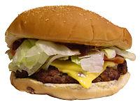 A Burger King Angus Bacon Cheese Steak