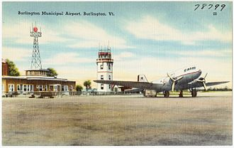 Burlington International Airport - Burlington Municipal Airport c.1940s