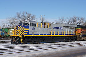 Citicorp Railmark Inc. (Citirail) - CREX 1335 at BNSF Willmar Rail Yard in January 2014