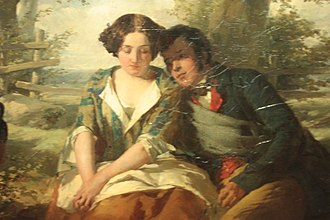 Thomas Faed - Burns and Highland Mary by Thomas Faed c.1850