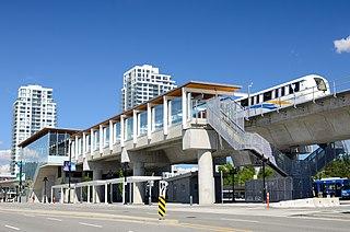 Burquitlam station Metro Vancouver SkyTrain station