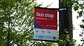 Burton Martins Hill Lane Gordon Way bus stop flag.JPG