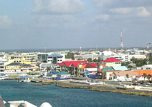George Town, Cayman Islands - Business buildings near the centre of George Town
