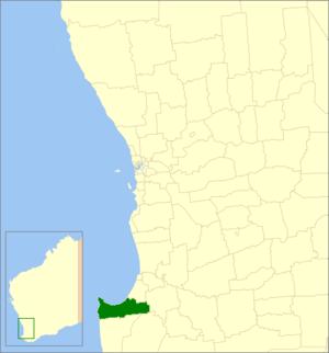 City of Busselton - Location in Western Australia