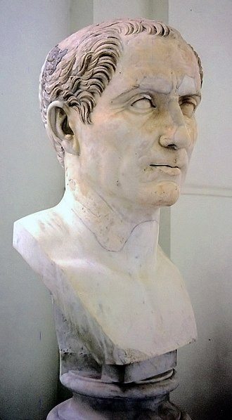 Julia (gens) - Bust of Gaius Julius Caesar, the dictator (BC 100–44), from the National Archaeological Museum at Naples