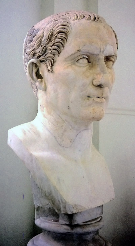 Bust of Gaius Iulius Caesar in Naples