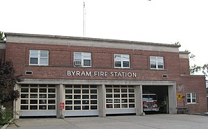 Byram, Connecticut - Image: Byram Fire Station cloudy jeh
