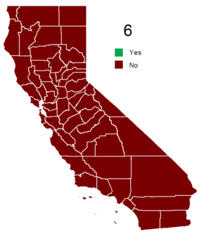 California Proposition 6 (2008) - Electoral results by county.