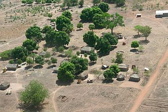 United Nations Security Council Resolution 1182 - Village in the Central African Republic viewed from above