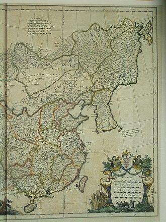 Zhili - Image: CEM 44 La Chine la Tartarie Chinoise et le Thibet 1734 East 2570