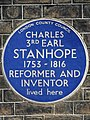 CHARLES 3RD EARL STANHOPE 1753-1816 REFORMER AND INVENTOR lived here.jpg