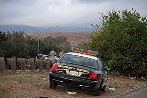 English: A California Highway Patrol unit on t...