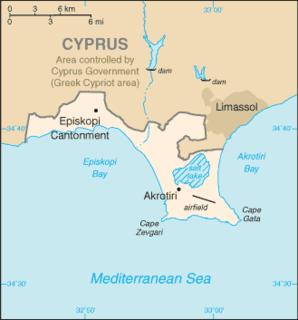 Episkopi Cantonment Capital of Akrotiri and Dhekelia - military base of British Overseas Territory