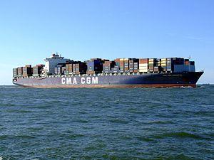 CMA CGM Parsifal p05 approaching Port of Rotterdam, Holland 29-Aug-2007.jpg