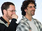 Photo of the Coen Brothers at the 2001 Cannes Film Festival.