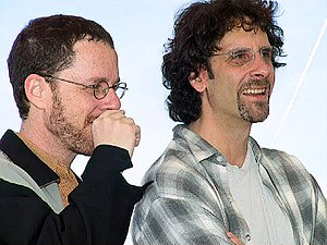 Coen brothers - Ethan and Joel at the 2001 Cannes Film Festival