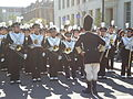 Cal Band en route to Memorial Stadium for 2008 Big Game 08.JPG