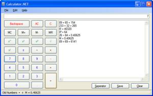 Screenshot of Calculator.NET, a Free Open Sour...