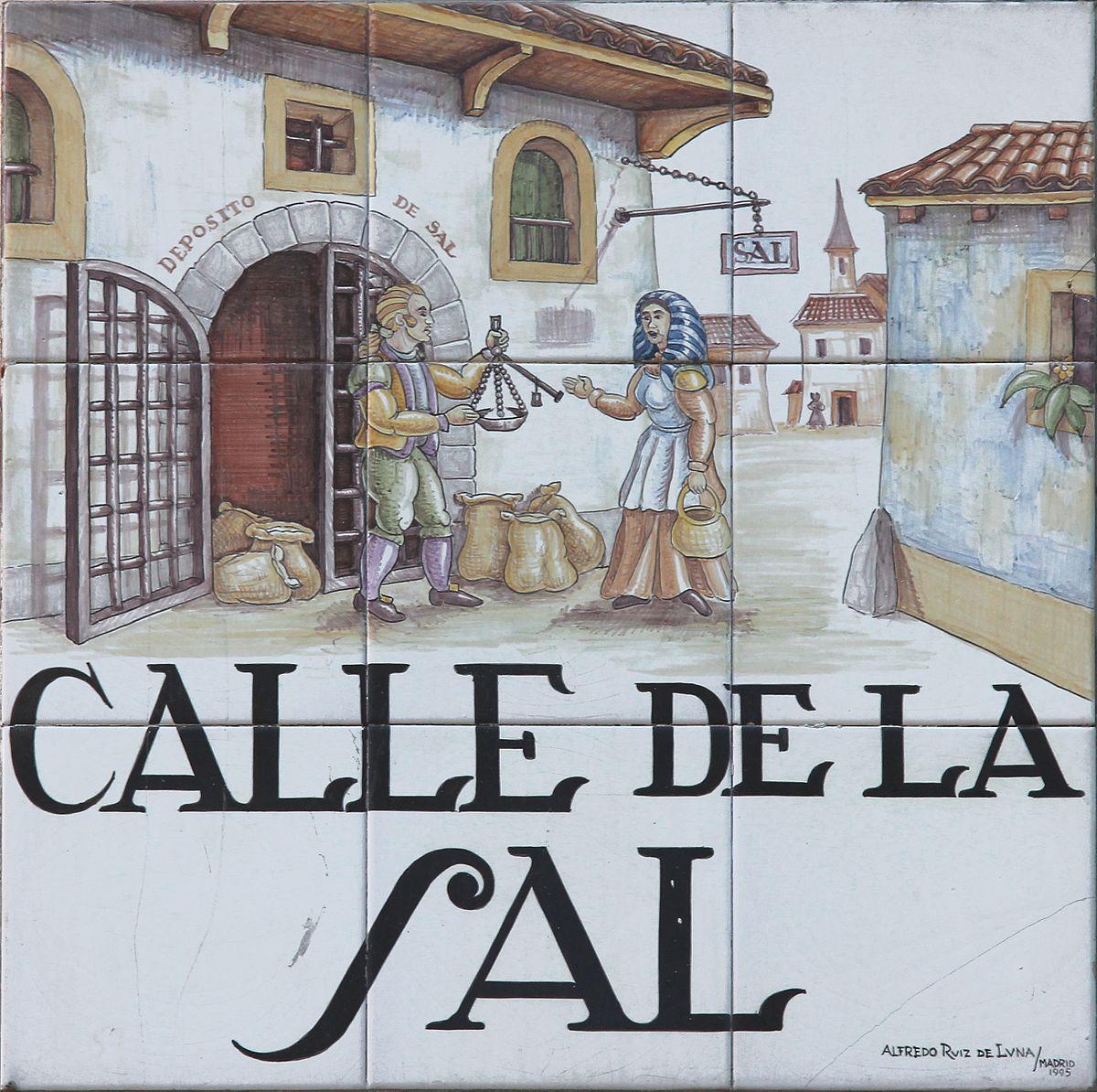 Resultado de imagen de azulejos calles de madrid sal
