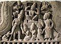 Cambogia, frontone con scena del kumarasambhava, da prea pithu, stile di bayon, 1190-1210 ca. 02.JPG