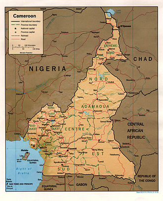 Geography of Cameroon - Map of Cameroon