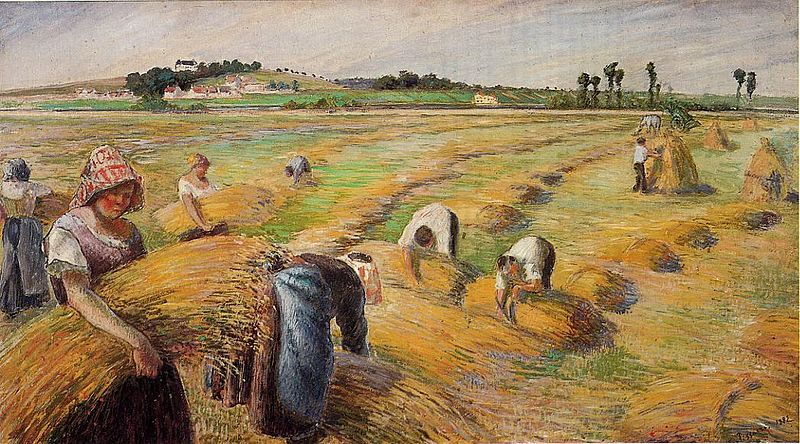 File:Camille Pissarro - The Harvest.jpg