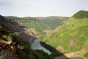 Campos Novos Dam - Image: Campos Novos Dam Canoas River