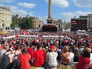 Canada Day - Trafalgar Square during Canada Day in London, England, 2013