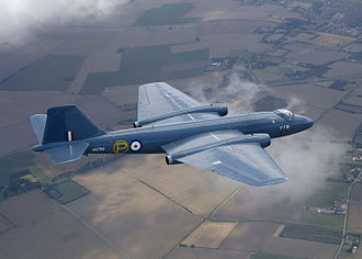 English Electric Canberra - Canberra T.4 WJ874 in 2005. It had been painted in 1999 to represent the first prototype VN799, first flown in 1949.