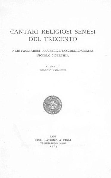 File:Cantari religiosi senesi del Trecento, 1965– BEIC 1779078.pdf