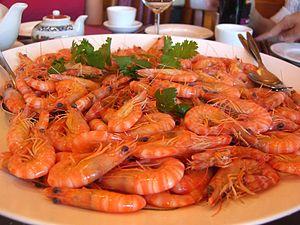White boiled shrimp - Image: Canto white boiled shrimp