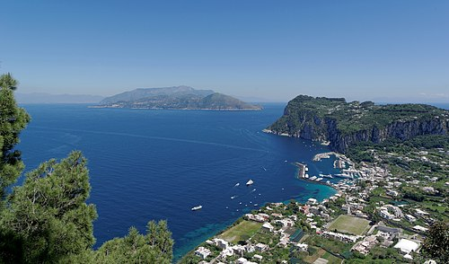Capri harbour from Anacapri 2013.jpg