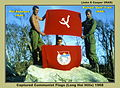 Capture communist flags in Long Hai hills, 1968.jpg