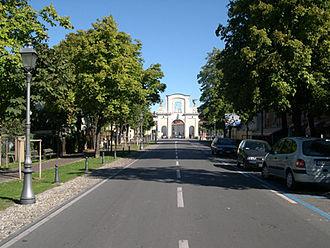 Caravaggio, Lombardy - The Porta Nuova gate to the historical center.