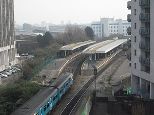 Cardiff Queen Street railway station - Cardiff Queen Street Station in 2009, before the addition of a fifth platform