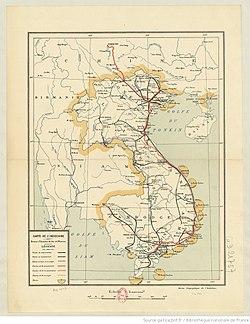 1933 Karte von Französisch-Indochina