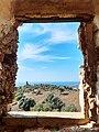 Casino San Fili, Il paesaggio dalla finestra occidentale del baluardo.jpg
