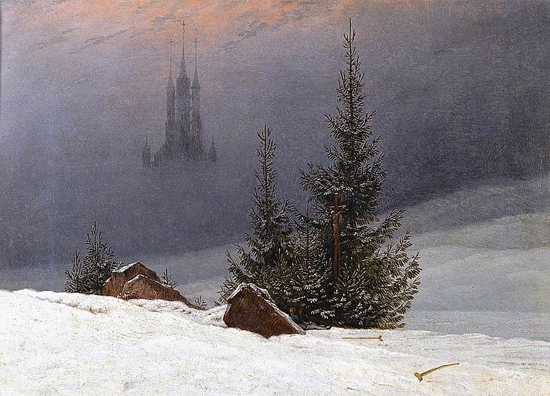 file caspar david friedrich winter landscape with church. Black Bedroom Furniture Sets. Home Design Ideas