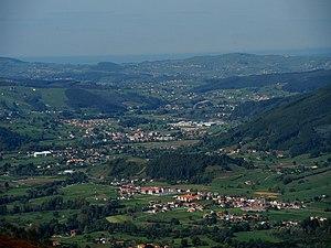 Castañeda, Cantabria - Aereal view of Castañeda