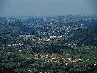 Castañeda, Cantabria - Aerial view of Castañeda